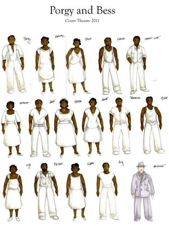 Porgy and Bess color sketch composite